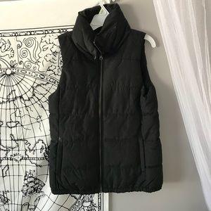 Fleece lined black puffer vest